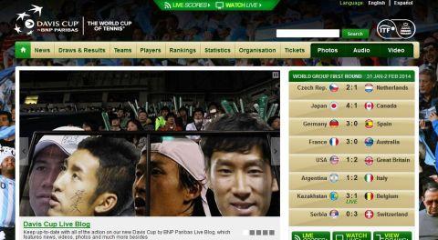 日本のファンの方が用意した4選手の応援ボードの写真がデ杯トップページを飾っています!